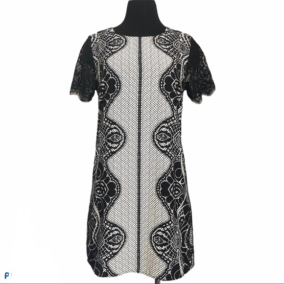Forever New Contemporary Dress Size 10 Medium Lace
